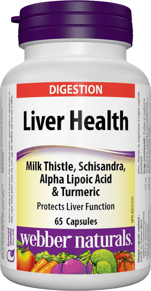 Webber Naturals Liver Health with Milk Thistle, 65 caps
