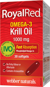 Webber Naturals Royal Red Omega-3 Krill Oil, 1000mg, 30 softgels