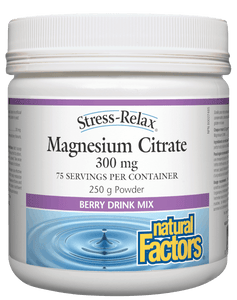 Natural Factors Stress-Relax Magnesium Citrate Powder