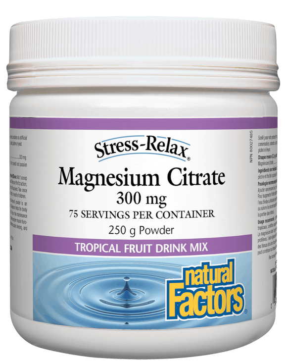 Natural Factors Magnesium Citrate 300 mg Tropical Fruit 250 g