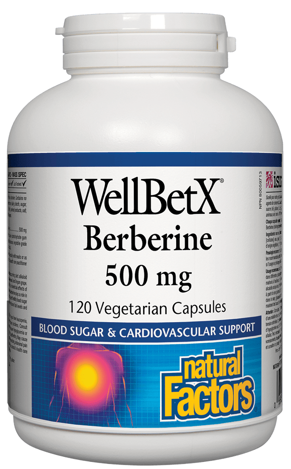 Natural Factors WellBetX Berberine 500 mg 120 veg cap