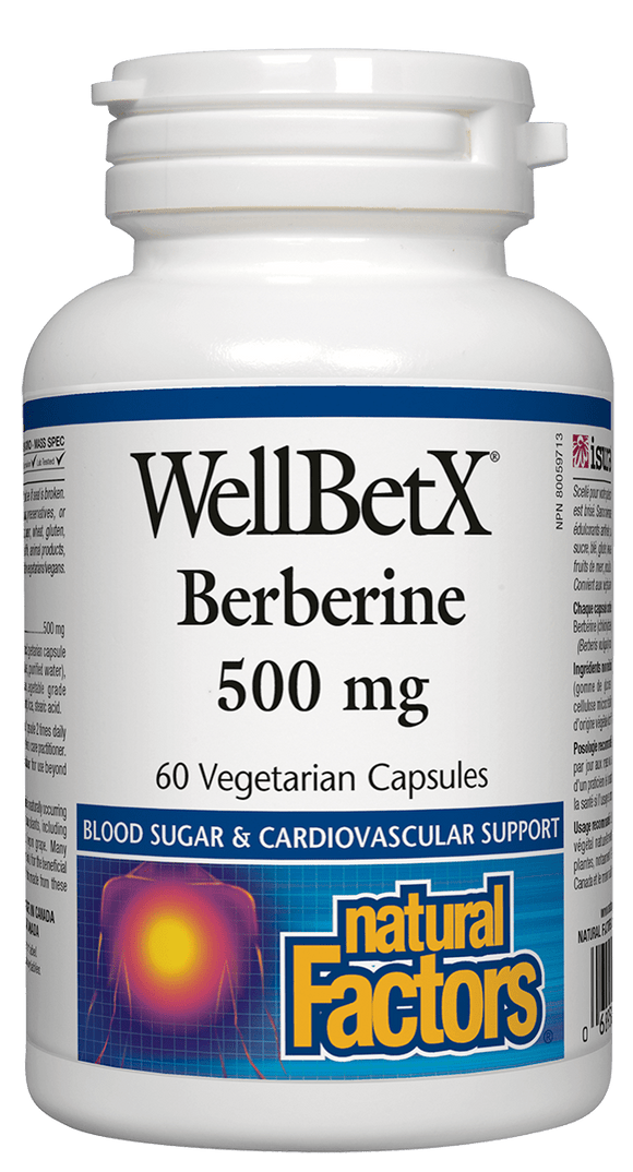 Natural Factors WellBetX™ Berberine 500 mg 60 vegetarian capsules