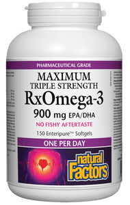 Natural Factors RxOmega-3 Factors, Maximum Triple Strength, 150 softgels