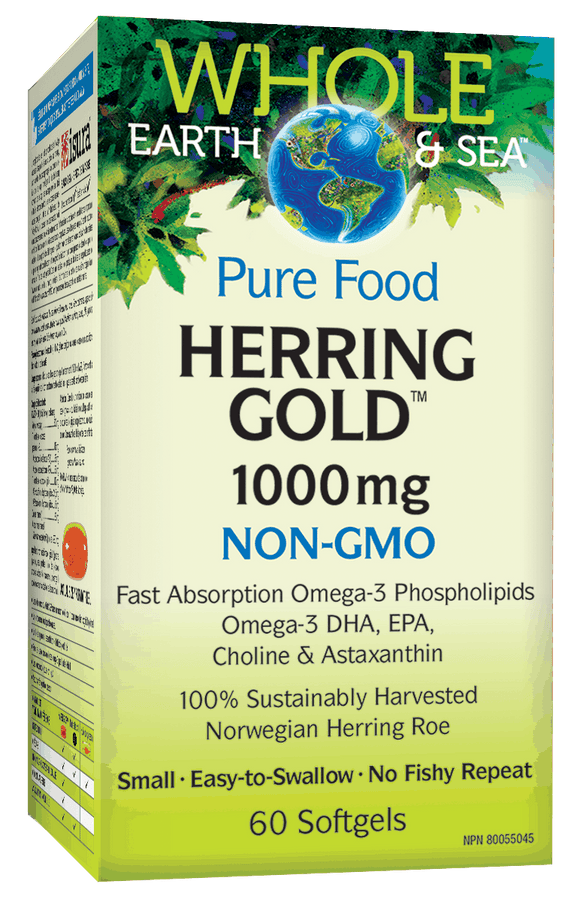 NF Whole Earth and sea Herring Gold Omega-3 ,1000 mg (60 softgels)