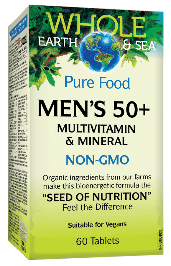 Natural Factors Men's 50+ Multivitamin & Mineral 60 tablets