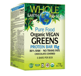 Whole Earth & Sea Pure Food Organic Vegan Greens Protein Bar 15g x 6 Bars