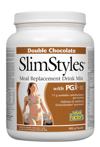 Natural Factors SlimStyles™ Meal Replacement Drink Mix, Chocolate, 800g