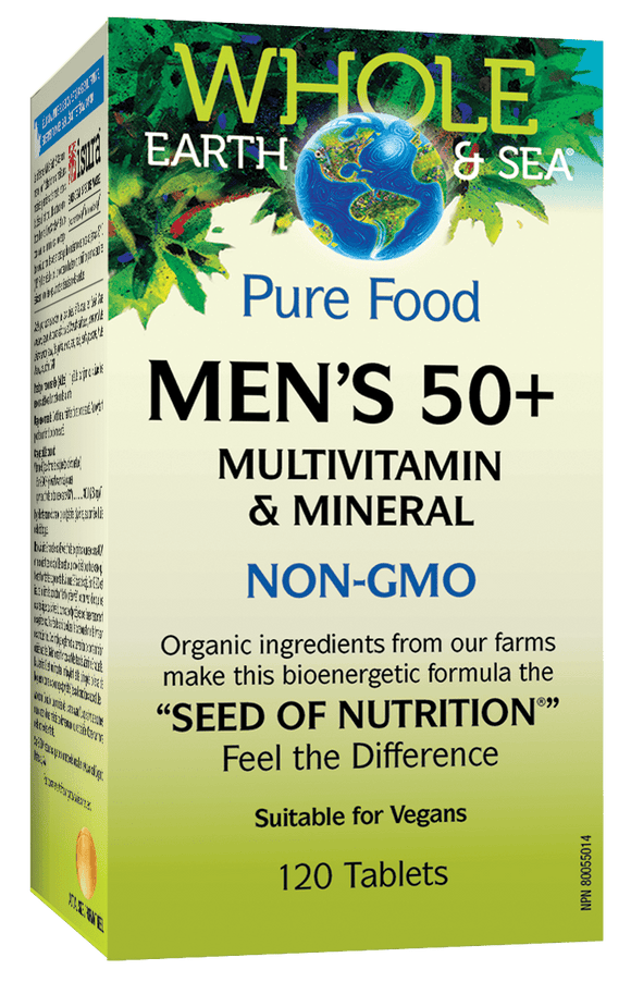 Natural Factors Men's 50+ Multivitamin & Mineral 120 tablets