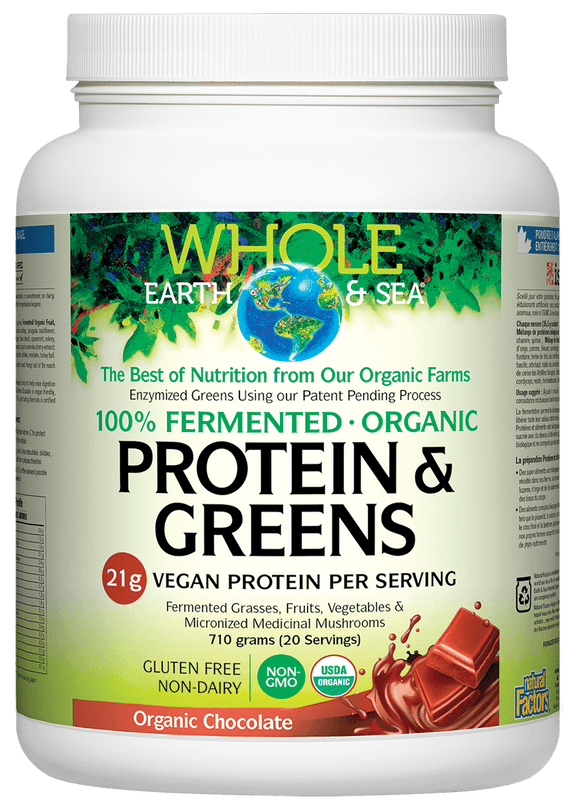 Natural Factors Fermented Protein & Greens 710 g Chocolate