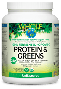 Natural Factors Fermented Organic Protein & Greens 640 g