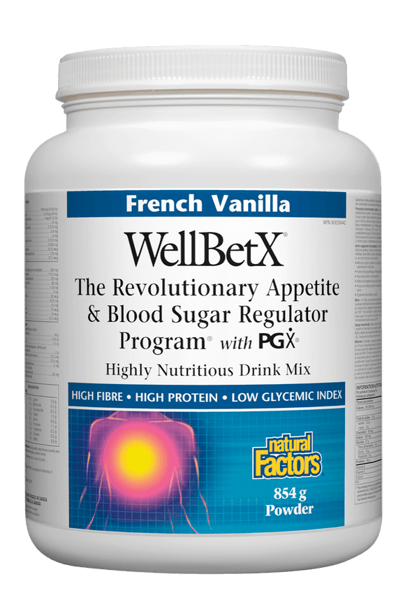 Natural Factors WellBetX™  Meal Support Drink Mix - French Vanilla