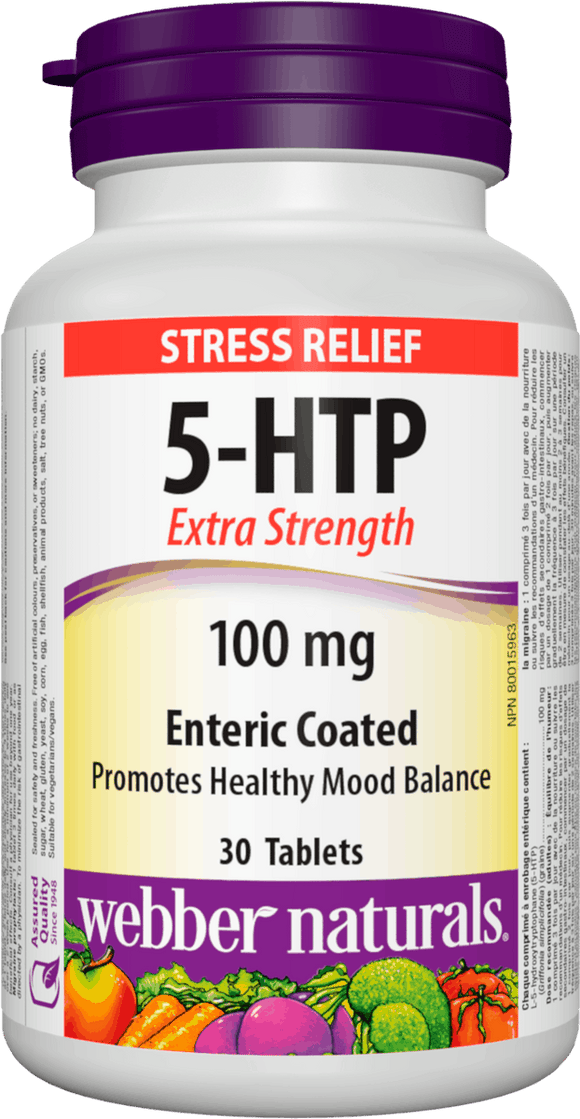 Webber Naturals 5-HTP Extra Strength 100 mg Enteric Coated 30 tablets