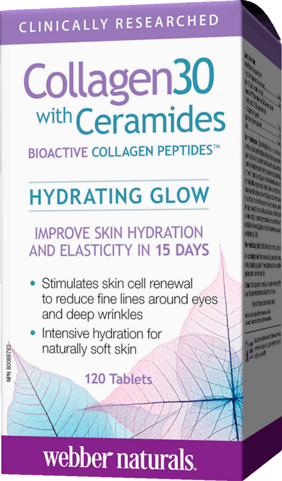 Webber Naturals Collagen30 with Ceramides Bioactive Collagen Peptides 120 tabs