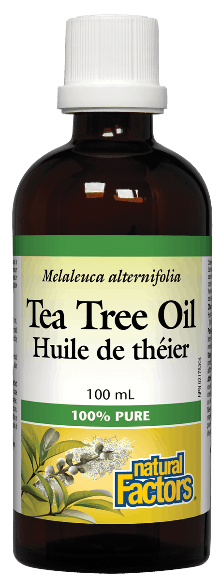 Natural Factors Tea Tree Oil, 100% Pure, 100mL