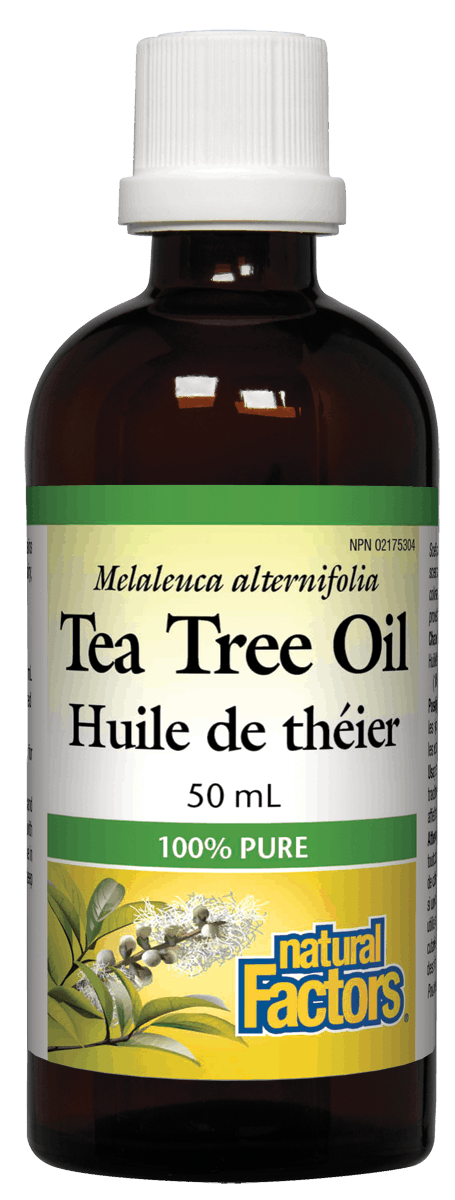 Natural Factors Tea Tree Oil, 100% Pure, 50mL