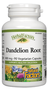 Natural Factors Dandelion Root Extract 4:1, 125mg , 90 V-Caps