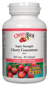 Natural Factors CherryRich™, 500mg, 90 softgels