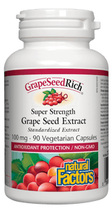 Natural Factors Grape Seed Extract, 100mg, 90 caps