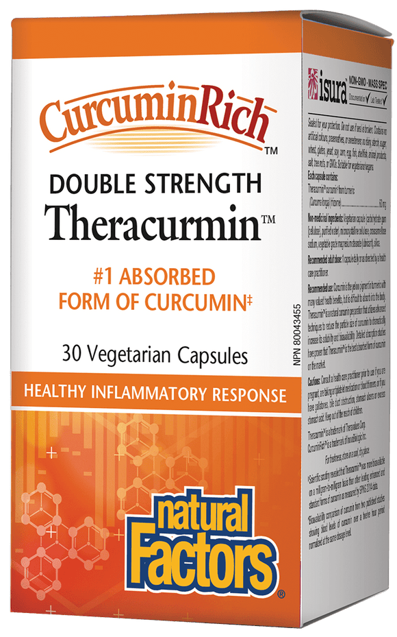 Natural Factors CurcuminRich™双倍强度Theracurmin™姜黄素,60毫克,30粒