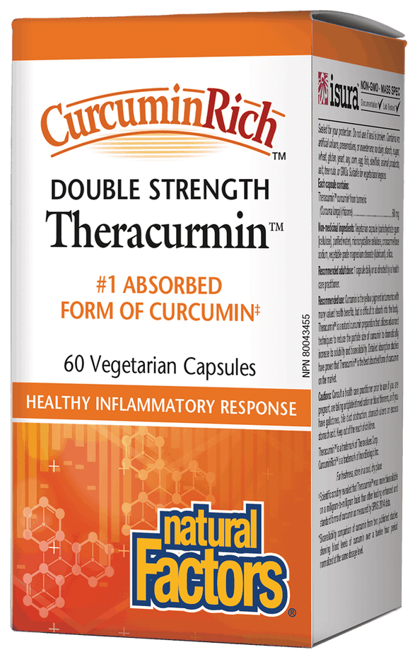 Natural Factors CurcuminRich™双倍强度Theracurmin™姜黄素,60毫克,60粒