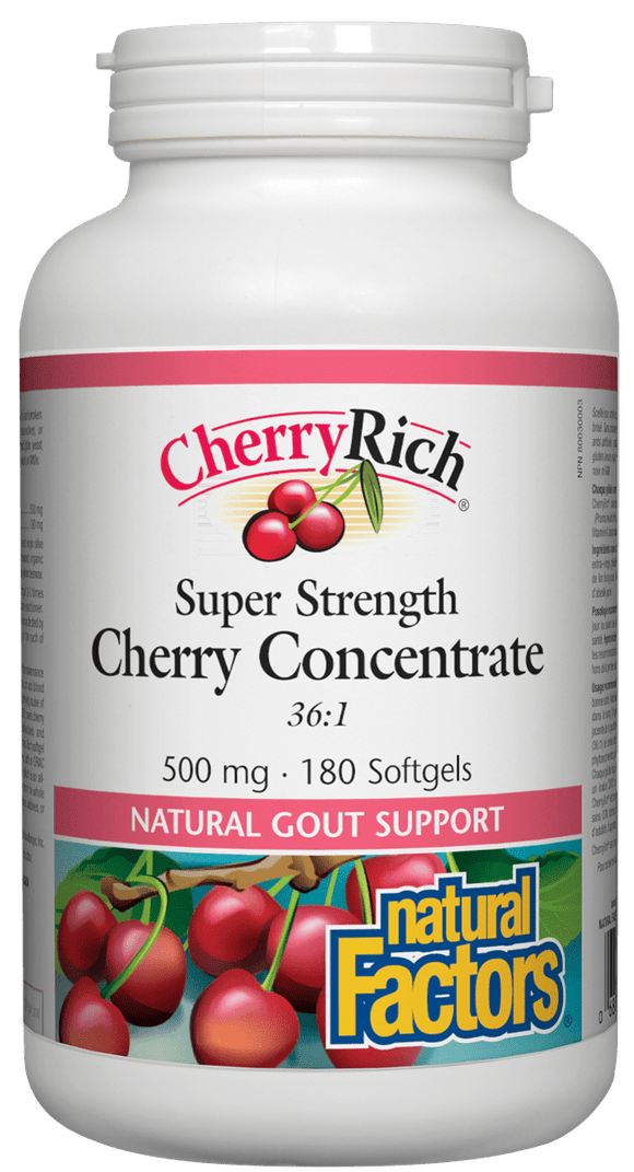 Natural Factors CherryRich Super Strength Concentrate 500 mg 180 softgels