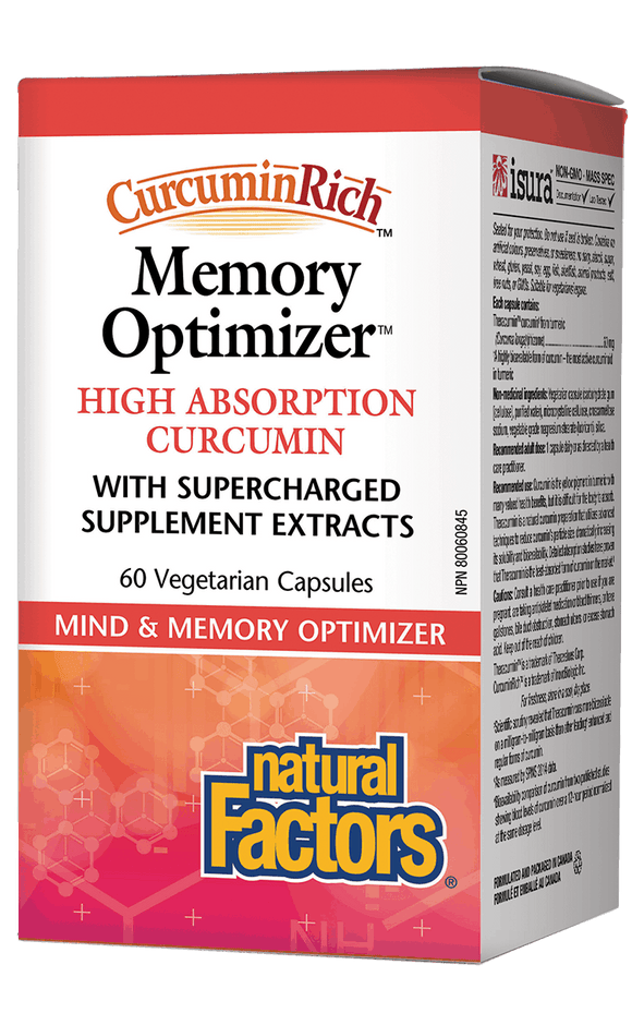Natural Factors Memory Optimizer High Absorption Curcumin 60 Vegetarian capsules
