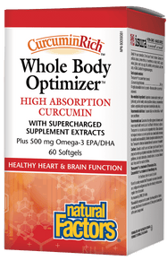 Natural Factors Whole Body Optimizer,high absorption curcumin 60SG