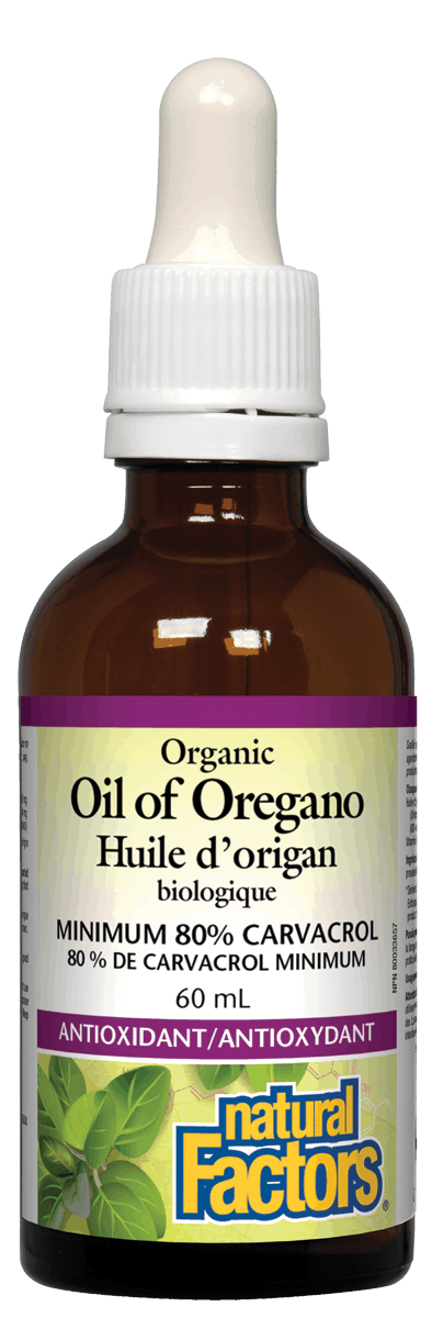 【clearance】Natural Factors Organic Oil of Oregano, 60 ml, EXP:2022/02
