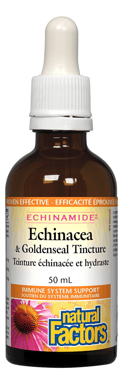 Natural Factors Echinacea and Goldenseal Tincture, 50 ml