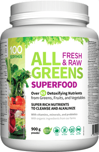 All Greens Superfood Fresh and Raw, 900g
