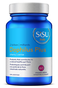 SISU Kids Dophilus Plus, 2 Billion Cherry flavour, 60 chewable tablets