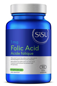 SISU Folic Acid 1mg, 90 tabs