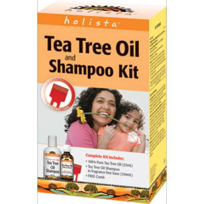 Holista Tea Tree Oil and Shampoo Kit (Holista Complete Head Lice Kit)