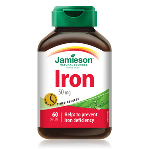 Jamieson Iron 50mg, Timed Release, 60 capsules