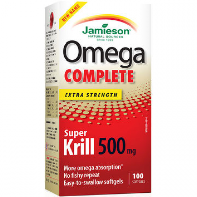 Jamieson Omega Complete™ Extra Strength Super Krill 500 mg, 100 softgels