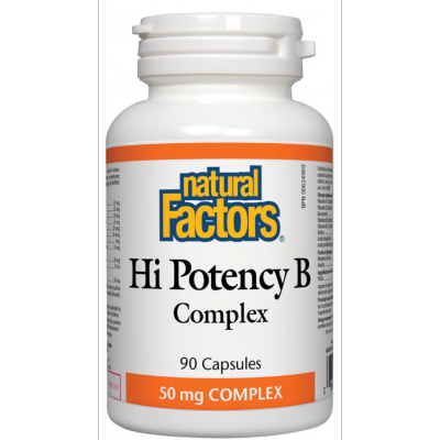 Natural Factors Hi Potency B Complex, 50mg, 60 capsules