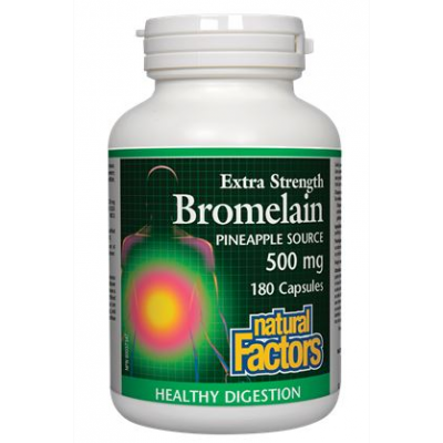 Natural Factors Bromelain, Pineapple Source, 500 mg, 180 caps