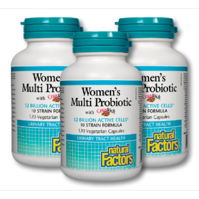 (Promotional Item) Natural Factors 3 x Women's Multi Probiotic Formula, 120 caps