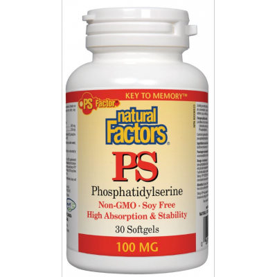 【clearance】Natural Factors Phosphatidylserine PS , 100mg, 30 softgels  EXP:2021/07
