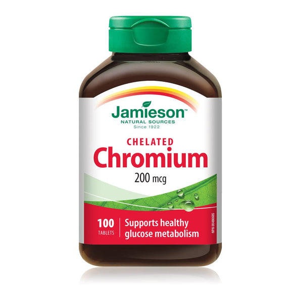 Jamieson Chelated Chromium 200 mcg 100 tablets