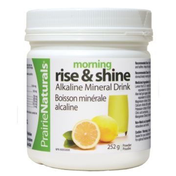 【clearance】Prairie Naturals Morning Rise & Shine pH Balancing Lemon, Aloe, Mineral Drink, 252g EXP:2021/11