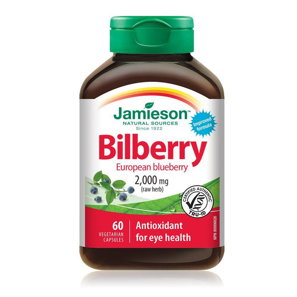 Jamieson Bilberry (European Blueberry), 60 capsules