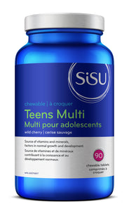 SISU Teens Multi, 90 Chewable Cherry flavour tabs