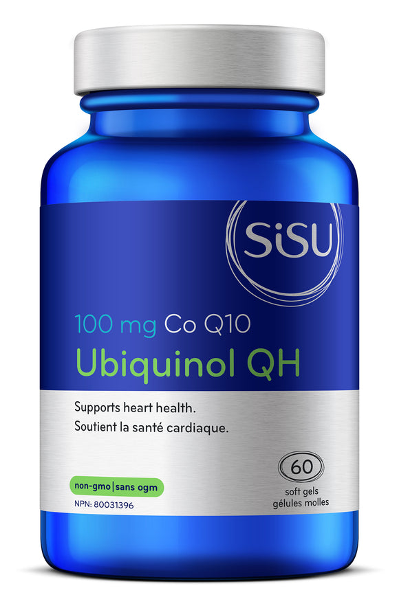 Sisu Ubiquinol QH Co Q10 100mg, 60 softgels