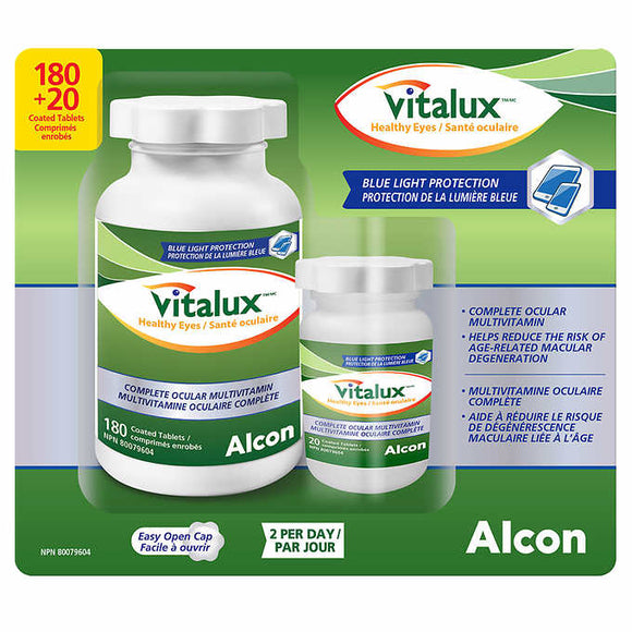 Vitalux Healthy Eyes Ocular Multivitamin, 180 + 20 Coated Tablets