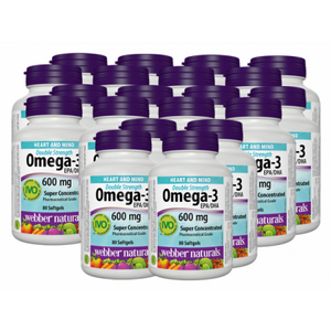 [Promotional Item] 20x Webber Naturals Omega-3, EPA400:DHA200, 80 Softgel