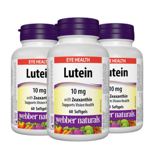 Webber Naturals Lutein (10 mg) with Zeaxanthin, Special 3-Pack, 180 caps
