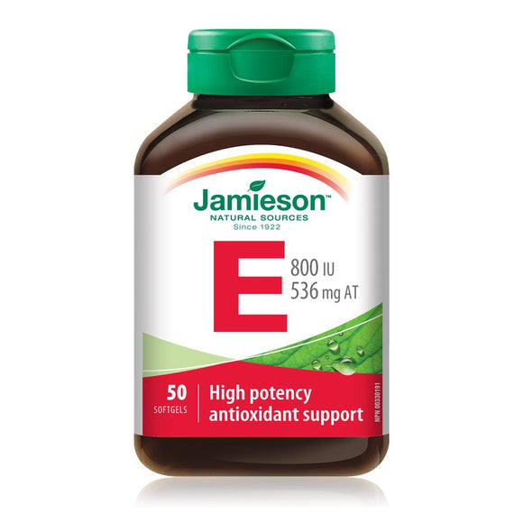 Jamieson Vitamin E 800IU 50 softgels