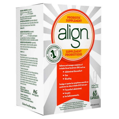 Align Probiotic Digestive Care Supplement, 63 Caps