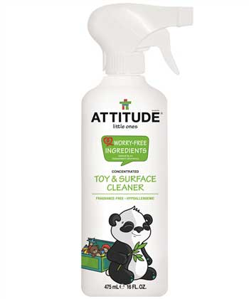 ATTITUDE Toy and Surface Cleaner, Fragrance Free, 475 ml